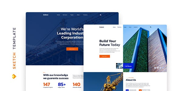 Dustro – Construction Company Template
