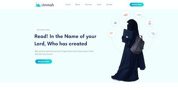 Ummah  – Islamic Institute & Mosque PSD Template