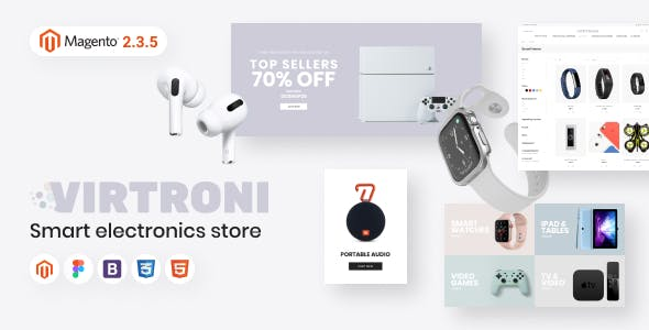 Virtroni - Smart Electronics Store Magento 2 Theme