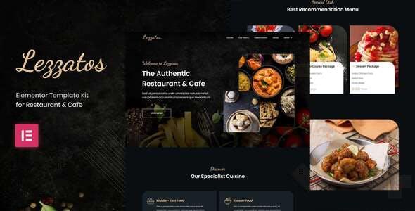 Lezzatos   Restaurant & Cafe Elementor Template Kit