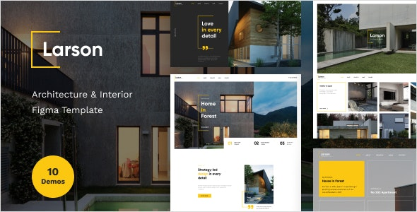 Larson - Architecture & Interior Figma Template - Business Corporate