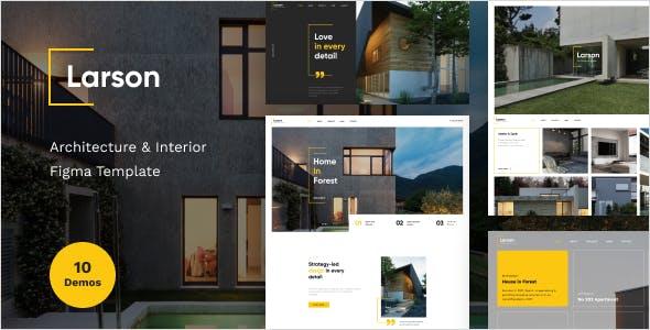 Larson - Architecture & Interior Figma Template