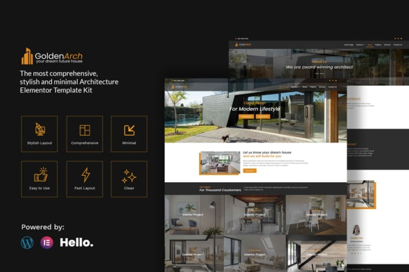 GoldenArch - Real Estate Elementor Template Kit - Real Estate & Construction Elementor