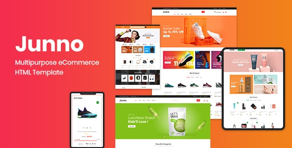 Junno – Multipurpose eCommerce HTML Template - Shopping Retail