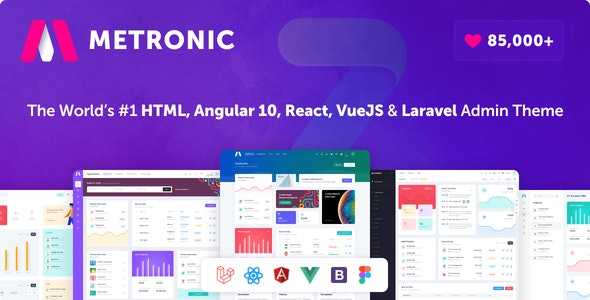 Metronic - Bootstrap 4 HTML, React, Angular 10, VueJS & Laravel Admin Dashboard Theme - Admin Templates Site Templates