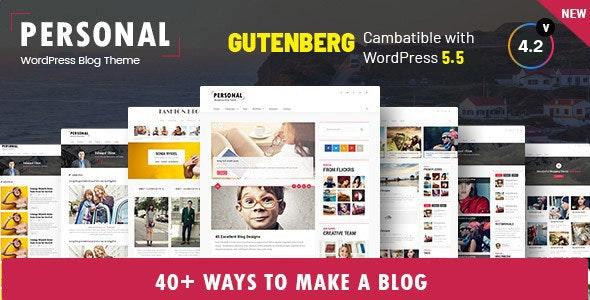 Personal - Best Blog, CV and Video WordPress Theme - Personal Blog / Magazine
