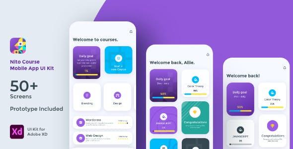 Nito Course Mobile App UI Kit