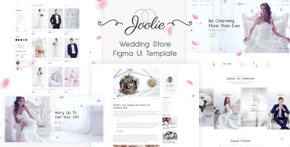 Joolie - Wedding Store Figma UI Template - Fashion Retail