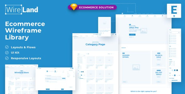 Wireland for Ecommerce - Massive Wireframe Library Collection