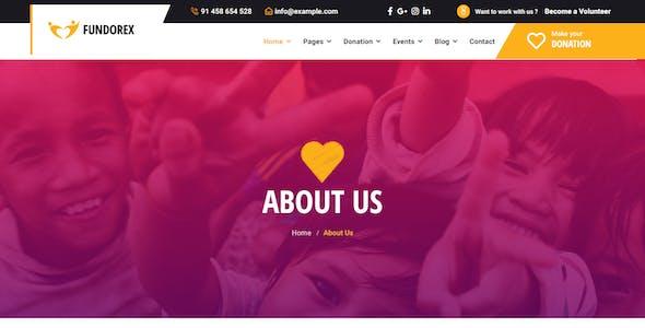 Fundorex - Charity & Donation HTML Template