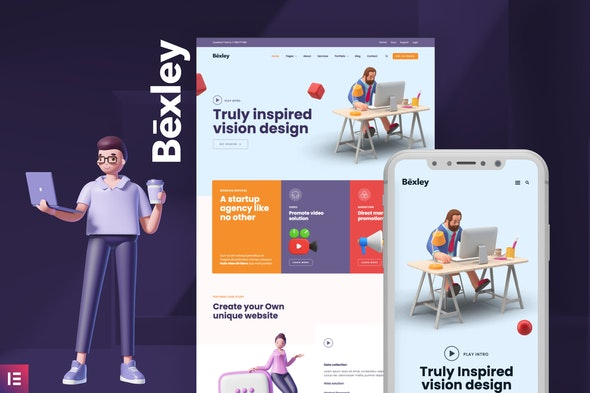 Bexley - Digital Marketing Agency Template Kit - Business & Services Elementor
