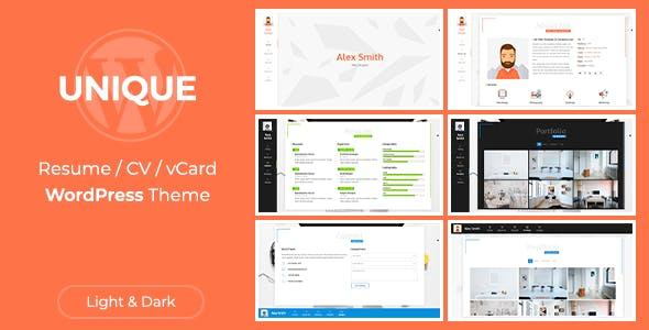 Unique | CV Resume Theme