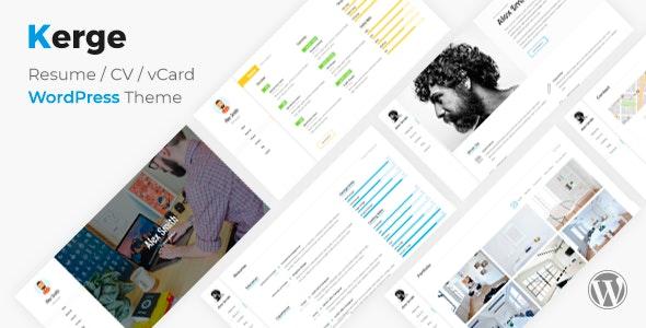 Kerge - CV Resume Theme - Portfolio Creative