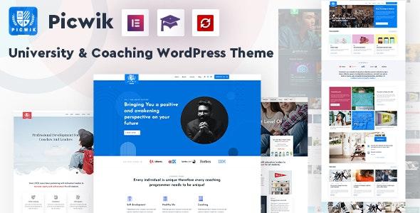 Picwik - University & Coaching WordPress Theme - Education WordPress