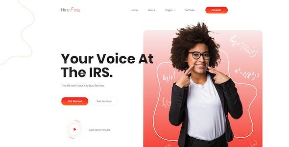HireMe - Accountant Portfolio Figma Template