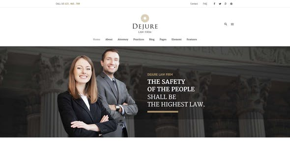 Dejure Responsive WP Theme for Law firm & Business