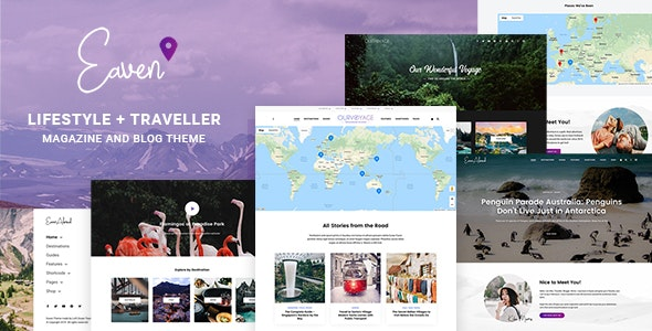 Eaven - Lifestyle & Traveller Magazine and Blog theme - Blog / Magazine WordPress
