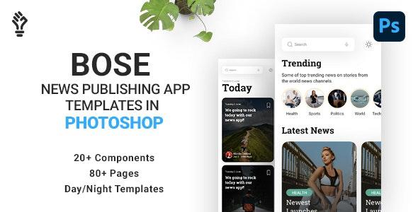 BOSE News App Designs in Photoshop - Entertainment Photoshop