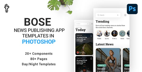 BOSE News App Designs in Photoshop