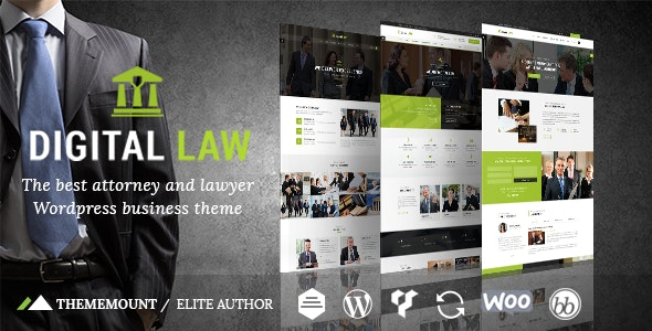 Digital Law | Attorney & Legal Advisor WordPress Theme - Business Corporate