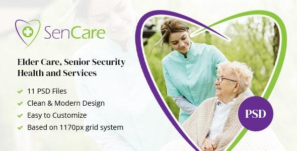 SenCare - Elderly Home & Senior Care PSD - Health & Beauty Retail