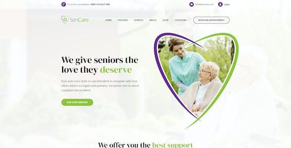 SenCare - Elderly Home & Senior Care PSD