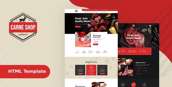 CarneShop - Butcher & Meat Shop HTML template - Food Retail