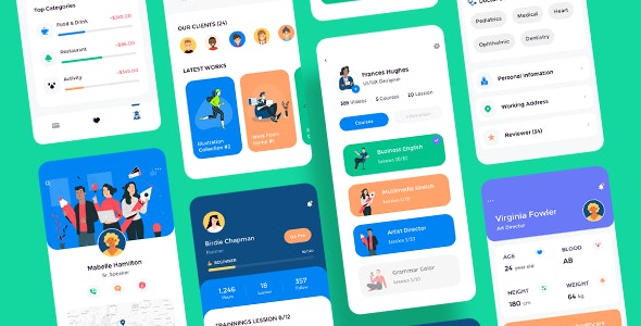 Claka UI Kit - Profile - Creative Sketch