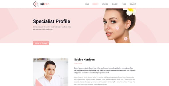 Gilkan - Dermatology and Skin Care Sketch Template