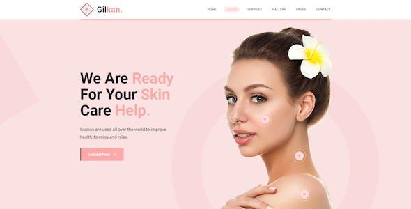 Gilkan - Dermatology and Skin Care Figma Template