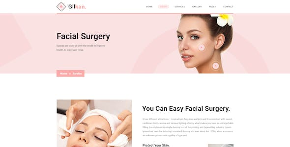 Gilkan - Dermatology and Skin Care XD Template