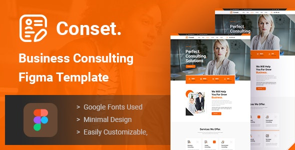 Conset - Business Consulting Figma Template - Business Corporate