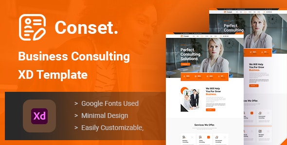 Conset - Business Consulting XD Template - Business Corporate