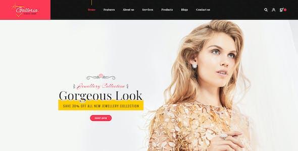 Galleria - Jewellery PSD Templates