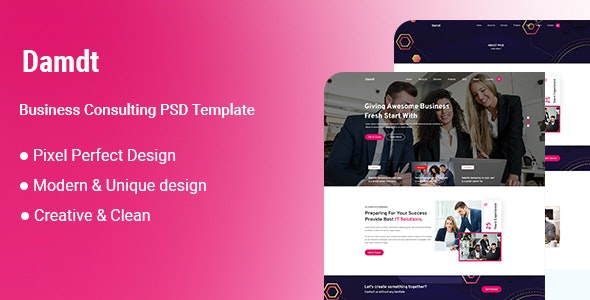 Damdt-Business Consulting PSD Template - Business Corporate