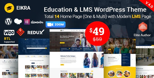 Eikra - Education WordPress Theme - Education WordPress