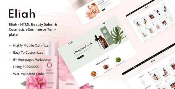 Eliah - HTML Beauty Salon & Cosmetic eCommerce Template - Health & Beauty Retail