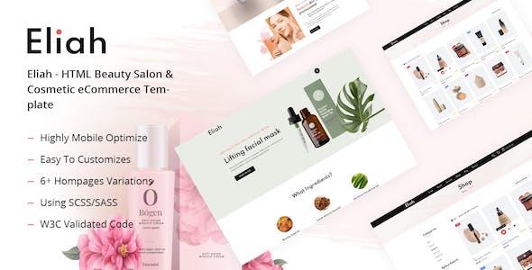 Eliah - HTML Beauty Salon & Cosmetic eCommerce Template