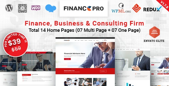 Finance Pro - Business & Consulting WordPress Theme - Business Corporate