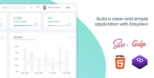 EasyDev — HTML(Pug) Bootstrap 4 Admin & Dashboard Template