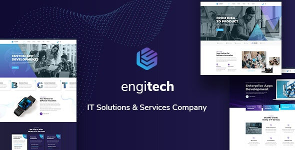 Engitech - IT Solutions & Services HTML5 Template - Technology Site Templates