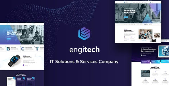Engitech - IT Solutions & Services HTML5 Template