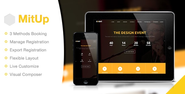 MitUp - Event & Conference WordPress Theme - Events Entertainment