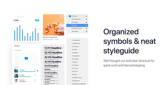 Delites - Grocery Dashboard UI Kit for Adobe XD