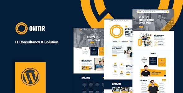 Onitir - IT Solutions WordPress theme - Business Corporate