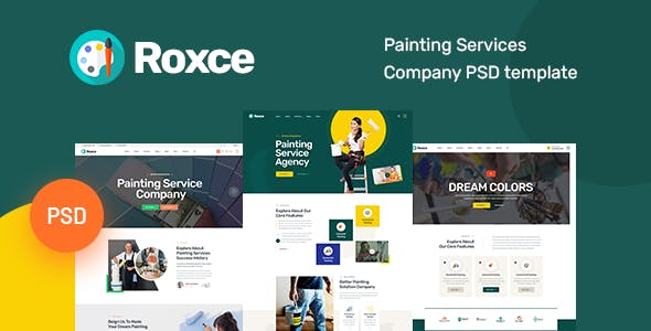 Roxce - Painting Services Company PSD Template