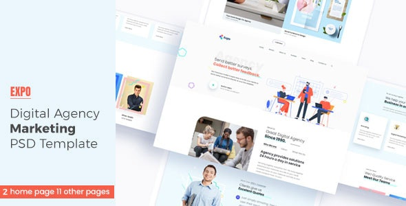 Expo - Digital Agency PSD Template - Business Corporate