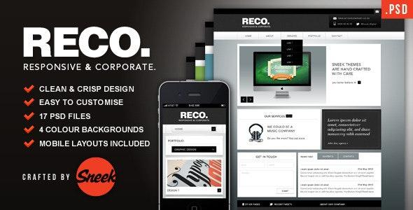 RECO - Corporate PSD Template - Corporate Photoshop