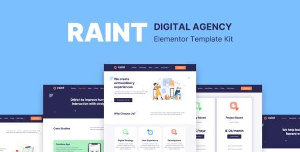 Raint - Digital Agency Elementor Template Kit