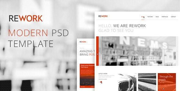 REWORK - Modern PSD Template - Corporate Photoshop